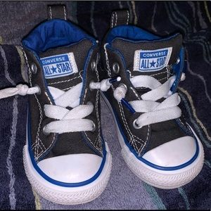 Toddler high top converse- size 5.
